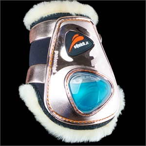 eQUICK eSHOCK ROSE GOLD LAMBSWOOL REAR VELCRO-apparel - horse-Spurs
