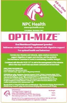 NPC OPTI-MIZE-feed & supplements-Spurs