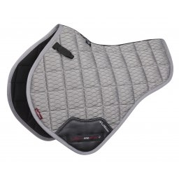 LE MIEUX SADDLE CLOTH HALF SQUARE CARBON AIR MESH-saddles & accessories-Spurs